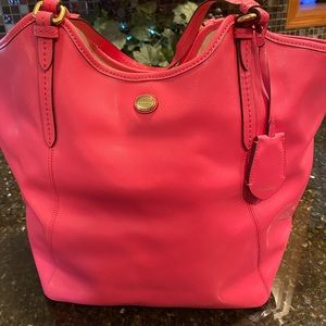Coach Peyton Leather Tote Large Bright Pink F26103
